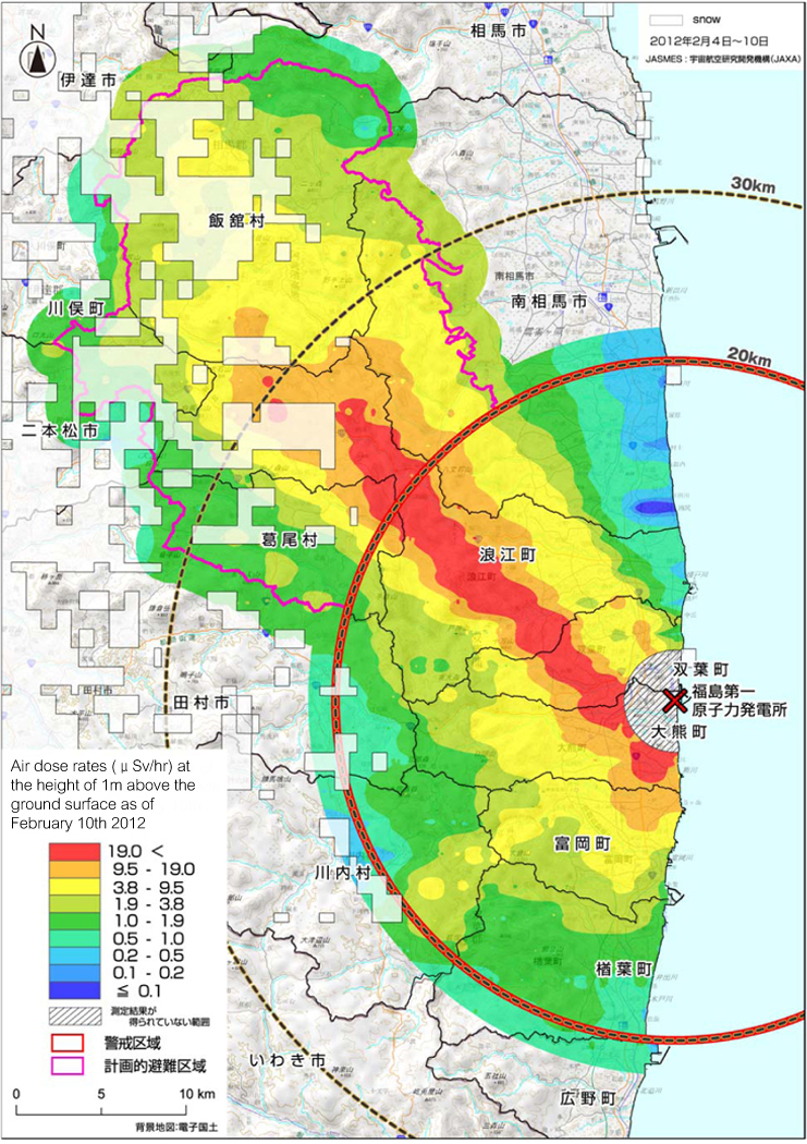 Japan Reishi Association - Japan map radiation